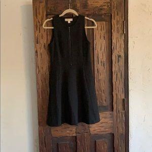 Black zipper front dress
